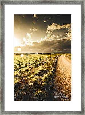 Way To Policemans Point Tasmania Framed Print by Jorgo Photography - Wall Art Gallery