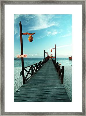 Way To The Ocean Framed Print by Vera Golovina