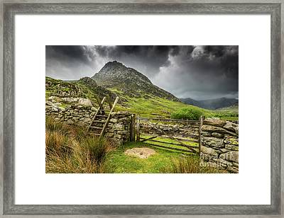 Way To Tryfan Mountain Framed Print by Adrian Evans