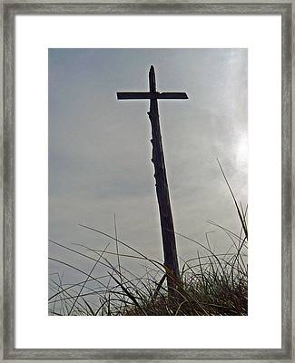 Wayfarer Beach Totem  Framed Print