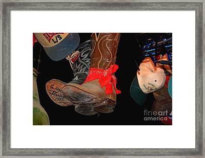 Waylon Jennings Boots Framed Print
