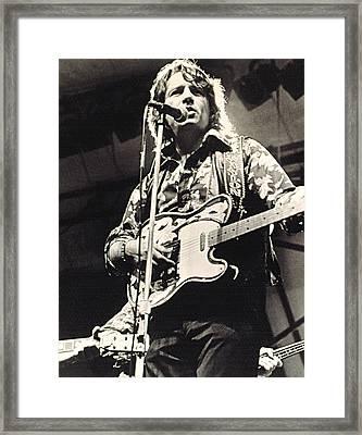 Waylon Jennings In Concert, C. 1974 Framed Print by Everett