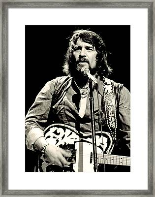 Waylon Jennings In Concert, C. 1976 Framed Print by Everett