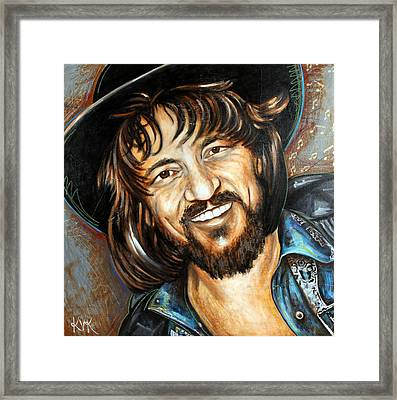 Waylon Jennings Framed Print