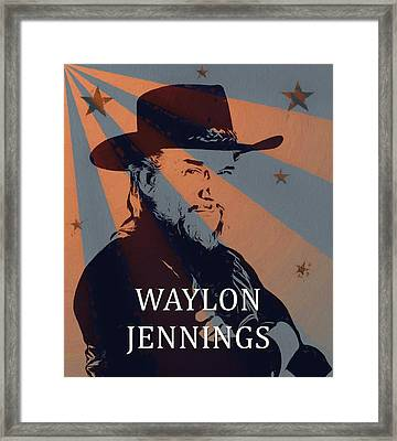 Waylon Jennings Poster Framed Print by Dan Sproul