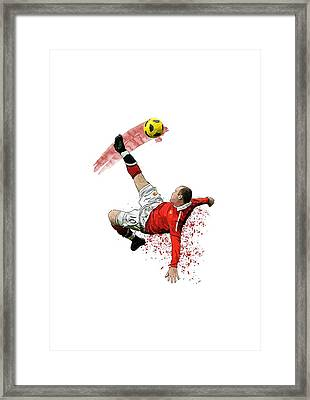 Wayne Rooney Framed Print by Armaan Sandhu