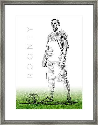 Wayne Rooney Framed Print by ISAW Gallery