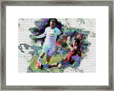Wayne Rooney Street Art Framed Print by Don Kuing