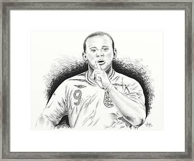 Wayne Rooney With Enggland Framed Print by Yudiono Putranto