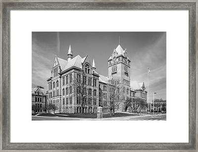 Wayne State University Old Main Framed Print by University Icons
