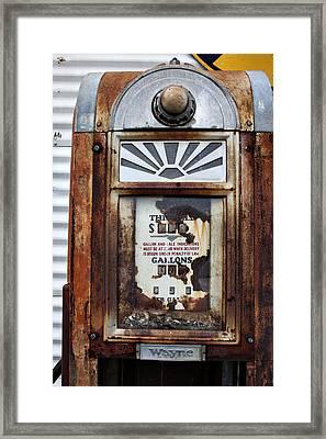 Wayne's Gas Pump Framed Print by Toni Hopper