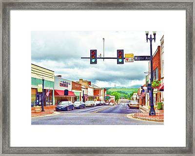 Framed Print featuring the photograph Waynesboro Virginia - Art Of The Small Town by Kerri Farley