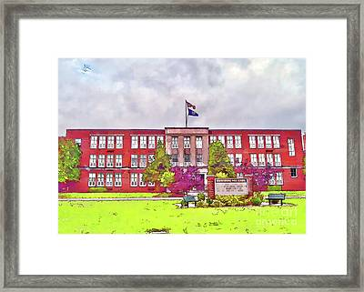 Framed Print featuring the photograph Waynesboro Virginia High School by Kerri Farley