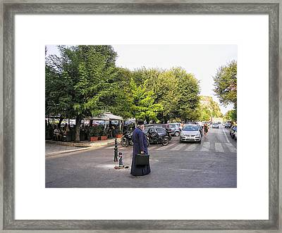 Ways To Stop Traffic  Framed Print by Connie Handscomb