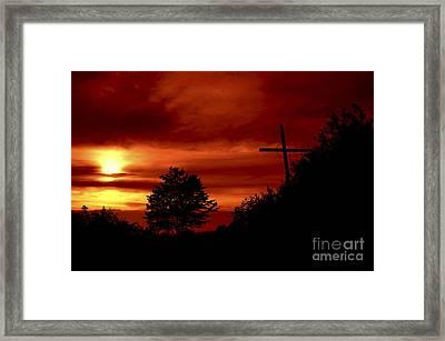 Wayside Cross Framed Print
