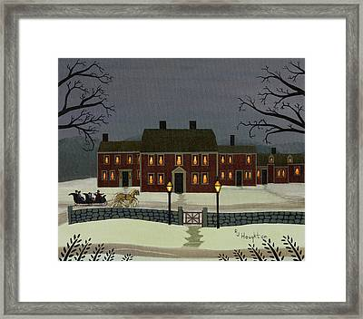 Wayside Winter's Eve Framed Print by RJ Houghton