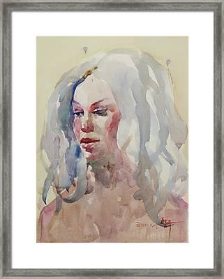 Wc Portrait 1617 Framed Print by Becky Kim