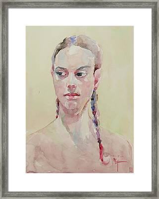 Wc Portrait 1619 Framed Print by Becky Kim