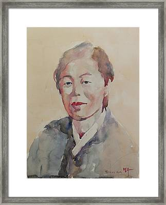 Wc Portrait 1625 My Mama Framed Print by Becky Kim