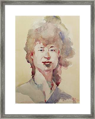 Wc Portrait 1626 My Sister Eunja Framed Print by Becky Kim