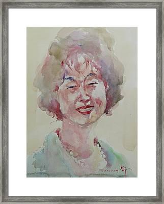 Wc Portrait 1627 My Sister Hyunju Framed Print by Becky Kim