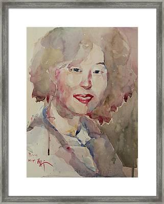 Wc Portrait 1628 My Sister Hyunsook Framed Print by Becky Kim