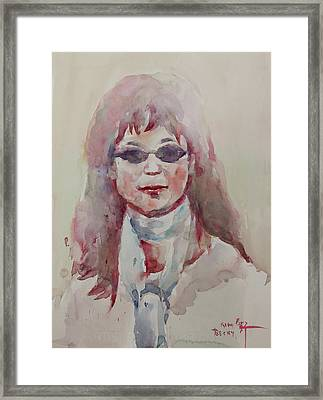 Wc Portrait 1629 My Sister Younhee Framed Print