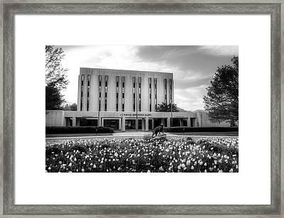 Wcu Catamount In Black And White Framed Print