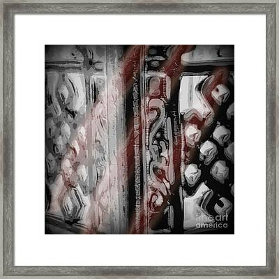 We All Bleed Red Framed Print by Jacqueline Rankin