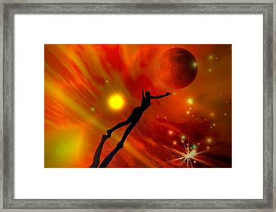 Framed Print featuring the digital art We All Shine On Like The Moon And The Stars And The Sun by Shadowlea Is