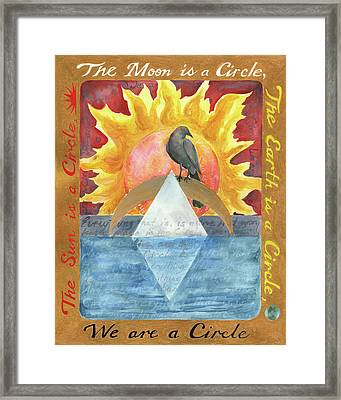 We Are A Circle Framed Print
