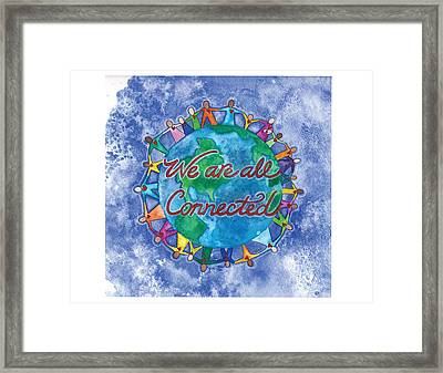 We Are All Connected Framed Print by Debi Hammond