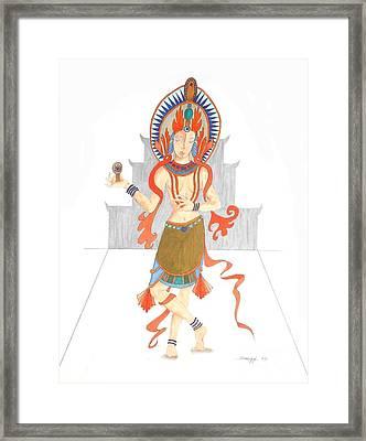 We Are All Goddesses -- Portrait Of Hindu Goddess Framed Print