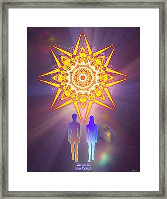 We Are All Star Beings Framed Print by Arie Van der Wijst