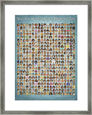 We Are All Uniquely Made By God Framed Print