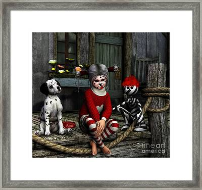 We Are Family Framed Print by Jutta Maria Pusl