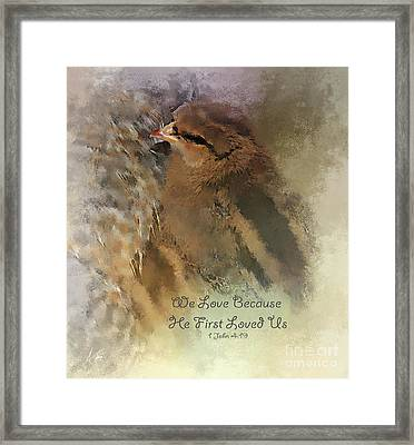 We Are Family - Verse Framed Print by Anita Faye
