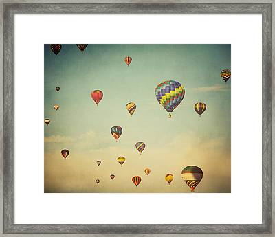 We Are Floating In Space Framed Print
