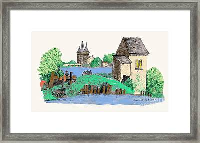 We Are Gone Fishing, Eh? Framed Print