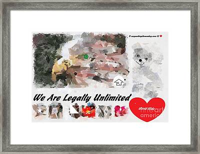 We Are Legally Unlimited World Wide Framed Print