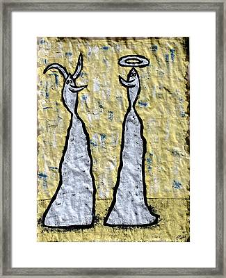 We Are Much Alike You And I Framed Print by Mario Perron