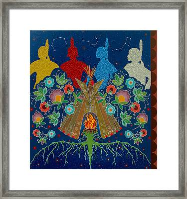We Are One Bond Framed Print by Chholing Taha