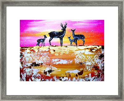 We Are One Framed Print by Cathy Jacobs