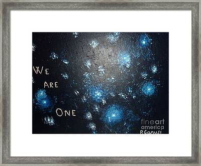 We Are One Framed Print by Piercarla Garusi