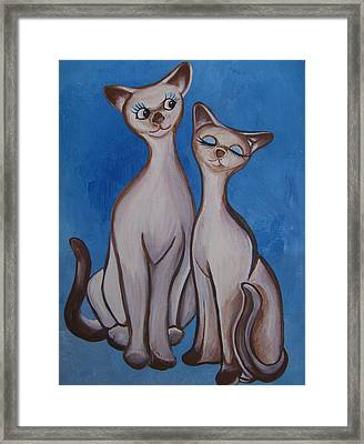 We Are Siamese Framed Print by Leslie Manley