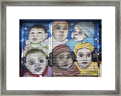 We Are The World 2 Framed Print by Allen Beatty