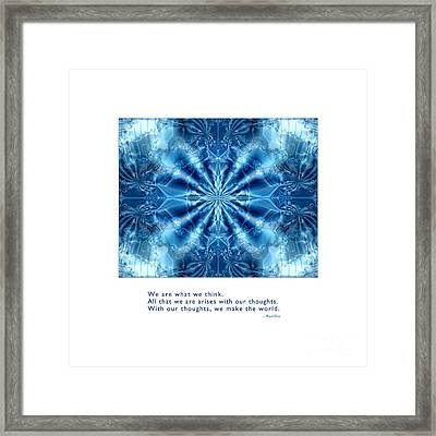 We Are What We Think Framed Print by Kristen Fox