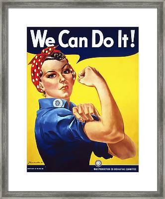 We Can Do It  1942 Framed Print by Daniel Hagerman