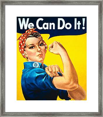 We Can Do It Framed Print by American School