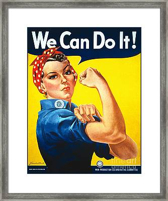 We Can Do It Rosie The Riveter Poster Framed Print
